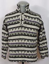 VTG Alhuf Icelandic Knit Sweater Nordic 1/4 Button Pullover Wool German