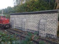 Stützmauer, Spur G, neu, für LGB Gartenbahn, Unikat. 600 mm x 200 mm