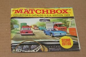 VINTAGE 1969 MATCHBOX COLLECTOR'S CATALOG U.S.A. 2nd EDITION