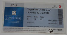 Ticket for collectors ATP Mercedes Cup Stuttgart Final 2014 Spain Czech TENNIS