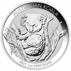 1 oz Silver Coin - 2021 Kola - Perth Mint - Australian $1 Coin - .9999