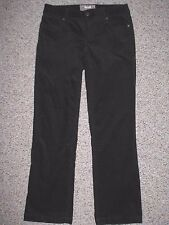 J. CREW WOMEN'S BOOT CUT BLACK CORDUROY JEANS 4S INSEAM 31
