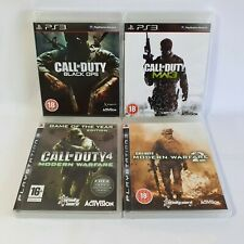 Call of Duty Modern Warfare 1 2 3 & Black Ops PS3 Playstation Game Bundle Lot