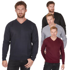 Men's Long Sleeve V Neck Jumper Sweater Pull Over Sizes L-2XL Pierre Roche