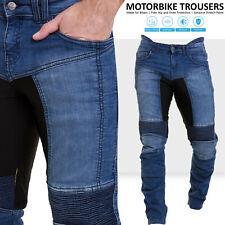 Qaswa Men's Motorcycle Denim Pants Motorbike Jeans With Stretch Panel Aramid Pro