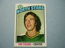 1976/77 TOPPS NHL HOCKEY CARD #158 TIM YOUNG ROOKIE NM SHARP!! 76/77 TOPPS