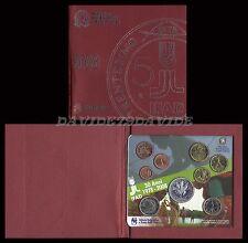 SERIE DIVISIONALE EURO MONETE ITALIA 2008 _ 9 VALORI CON 5 EURO D'ARGENTO _ FDC
