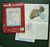 Needle Treasures Swingtime Counted Cross Stitch Kit Opened with some stitching