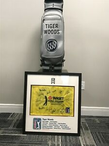 Tiger Woods Issued Buick Autographed Tournament Staff Bag w PGA Group Flag Auto