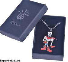 Game Undertale Papyrus Skeleton Necklace With Box Cosplay Pendant Cool Otaku