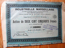 "Action France "" Industrielle Marseillaise  "" 1932"