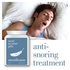 SWEET DREAMS SNORE NO MORE PILLS – SNORING TREATMENT STOP SNORING SLEEP HELP