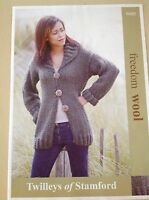TWILLEYS of Stamford ~ Knitting Pattern ~ Long Line Cardigan 32/34-36/38-40/42in