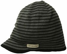 Columbia Mens Northern Peak Visor Beanie, Black/Charcoal, One Size