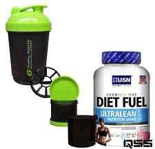 USN Diet Fuel 2kg Ultralean Protein Shake Weight Fat Loss 1kg Vanilla Ice Cream