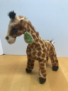 "Aurora Babies Giraffe 12"" Tall Zoo Relaxed Plush Soft Toy Stuffed Animal W/ Tag"