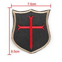 Special Force Devgru Seal6 Crusader Cross Embroidered Hook & Loop Patch T5