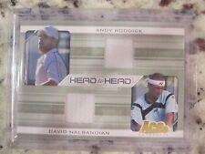 Andy Roddick David Nalbandian Ace Authentic Head to Head Tennis Jersey Card HH-7