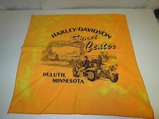Harley Davidson Motorcycle Bandana Scarf Duluth Sport Center MN Orange Tie Dye