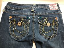 True Religion Jeans Women's Size 26 X 33 Petit Vintage Button Fly Wide Legs