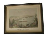 Antique Print Saint John  New Brunswick by W. H.Bartlett 1809-1854