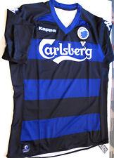 F.C. KOBENHAVN FOOTBALL JERSEY SOCCER Black Blue Kappa Size XXL NWT Rare Denmark