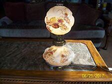 Cambridge RARE Antique Glass Floral Handpainted Chrysanthemum GWTW Table Lamp
