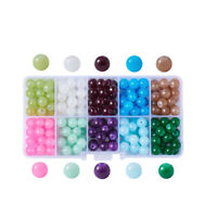 Mixed Lampwork Glass Color-Lined Foil Heart Beads Jewellery Craft 12mm ML