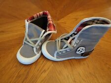 CHULO TODDLER UNISEX HIGH TOPS GRAY CANVAS SIZE US 8  EUR 26~~DISPLAY