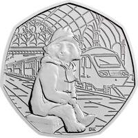 50p Coin Paddington Bear at The Station BRIGHT UNCIRCULATED 2018 ex Sealed Bag
