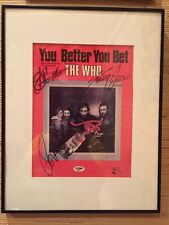 The Who Full Band (4) Autograph PSA/DNA Matted Framed Full Letter Authentic Rare