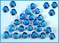 Free Shipping 2500 Ct AGSL Certified Heart Shape Sky Blue Topaz Gemstone Lot