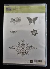 2011 Stampin Up BLISS 5 pc CLEAR MOUNT RUBBER STAMP SET Butterfly Spring Bird