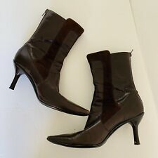 KENNETH COLE REACTION Brown Leather Pointy Toe Boots Size 7.5 COSICAN