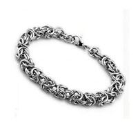"""Charms Stainless Steel Women/Men Fashion Chain 8.2""""Link Jewelry Unique Bracelet"""