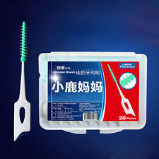 20 x diente limpio cabeza dental plástico interdental cepillo