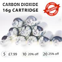 CO2 Cartridge 16g Threaded Bike Tyre Inflator Pump Refills - Packs of 5, 10 + 20