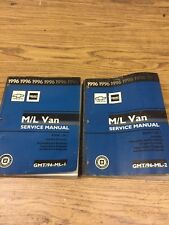1996 Chevy Truck GMC Truck M/L Van Service Manual Books 1 And 2