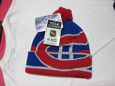 "MONTREAL CANADIENS ""CCM"" VINTAGE WINTER HAT (ADULT) NWT$25 HUGE LOGO CLASSIC"