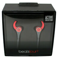 Authentic Beats by Dr. Dre Tour2 Active In-Ear Headphones with Mic Red Gray