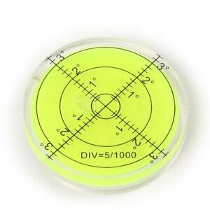 66mm Large Spirit Bubble Level Degree Mark Surface Circular Measuring Tool A765