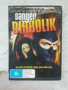 Danger Diabolik DVD 1968 Mario Bava Movie - DINO DE LAURENTIIS - OOP RARE