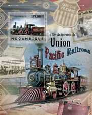 Union Pacific Railroad 4-4-0 locomotive #119 train STAMP SHEET (2012 Mozambique)