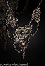 Restyle Steampunk Zahnräder Halskette Vintage Fusion Collier Gothic Necklace WGT