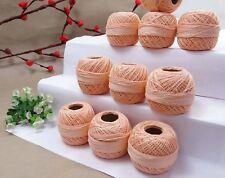 10 Peach Colors- Cotton Yarn - Tatting Thread -Crochet Lace Knitting Embroidery