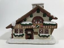 PartyLite Edelweiss Tealight Holder House With Original Box Christmas Decoration