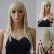 NEW!! Long Curly Wavy Straight Hair Wigs Women Cosplay Party Dress Full Bang Wig