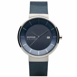 Bering Men's Wristwatch Solar - 14639-307 Meshband