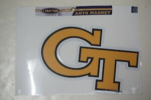 """Georgia Tech Yellow Jackets Auto Magnet by Craftique - 16"""" x 10"""""""