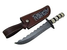 """Pioneer Custom Made Damascus Steel Hunting Knive With Damascus Guard 12"""" Pt-661"""